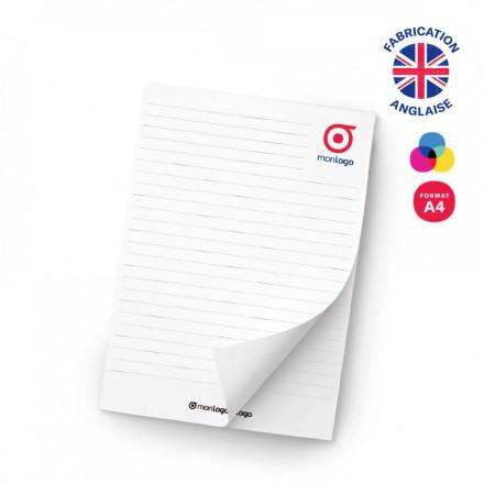 BLOC NOTES A4 'GORDON' 25, 50, 100 FEUILLES
