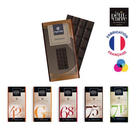 TABLETTE DE CHOCOLAT PERSONNALISÉE DE 90G LPCC® 'CHOCOLY'