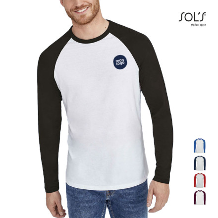 TEE SHIRT PERSONNALISABLE MANCHES LONGUES HOMME 'MILKY' 150 GR/M²