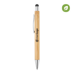STYLO PUBLICITAIRE AVEC STYLET BAMBOU 'NITIDA'