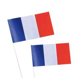 DRAPEAU EN PAPIER PERSONNALISABLE TRICOLORE FRANCE 'VAINQUEUR'
