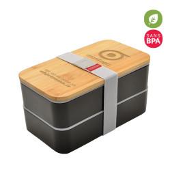 LUNCH BOX PERSONNALISABLE AVEC COUVERCLE EN BAMBOU 'FOOD'