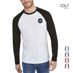 TEE-SHIRT PERSONNALISABLE MANCHES LONGUES HOMME 'MILKY' 150 GR/M²