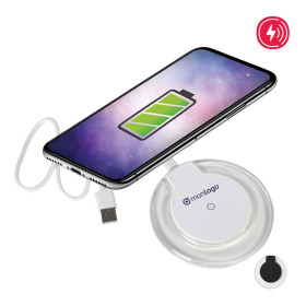 CHARGEUR A INDUCTION PUBLICITAIRE 5W 'FASTER'
