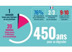 Infographie - La fin des sacs plastiques à usage unique : Bilan et alternatives